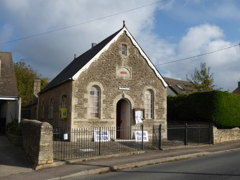 Polling day at the Parish Hall