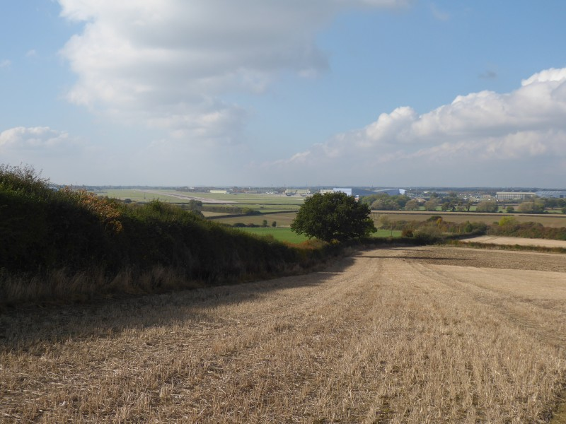 Looking towards RAF Brize Norton from the Tumulus
